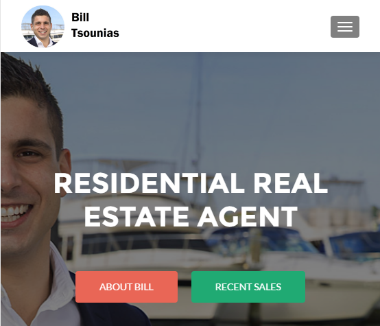 Bill Tsounias real estate agent in Sans Souci, St George, Ramsgate gets own website for social media and facebook marketing