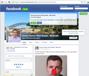 Facebook Page, timeline content and posts for real estate agents